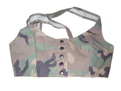 Bustier camouflage woodland