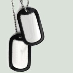 Dog Tag Sans Marquage