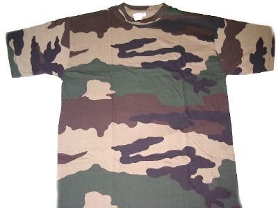 Tee shirt coton camouflage centre europe