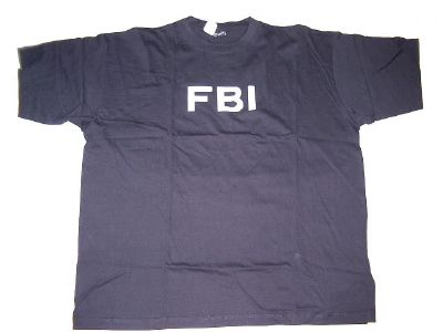 Tee shirt noir FBI